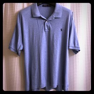 Mens Polo By Ralph Lauren Classic Soft Blue Polo